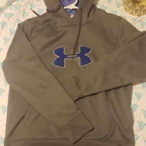 Under Armour Logo Hoodie in Grey and Blue